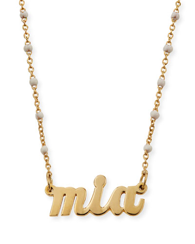 Rosaria 14K Nameplate Necklace