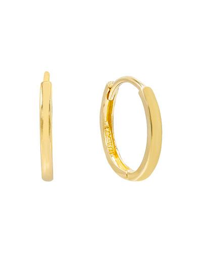 14k Solid Huggie Hoop Earrings