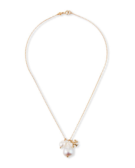 Image 1 of 2: Tory Burch Kira Pearl Charm Necklace