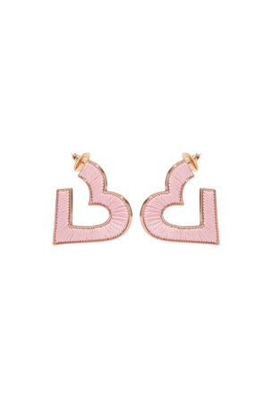 Mignonne Gavigan Fiona Heart Hoop Earrings $125.00