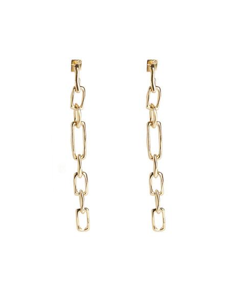Alexis Bittar Long Chain Link Post Earrings