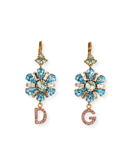 Dolce & Gabbana Crystal Flower DG Earrings