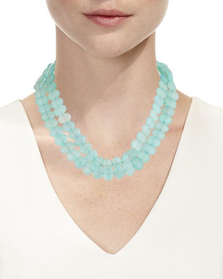 Image 2 of 2: Margo Morrison 2-Strand Chalcedony Necklace