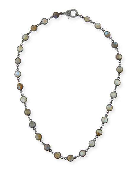 Margo Morrison Labradorite Slice Necklace