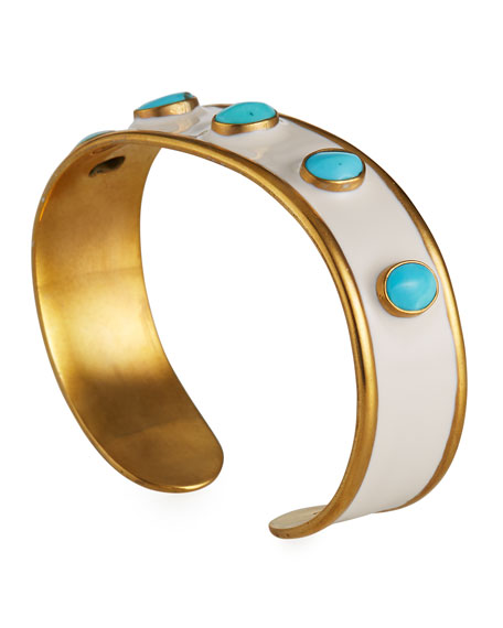 Image 3 of 4: Dina Mackney Turquoise Mini Cuff Bracelet