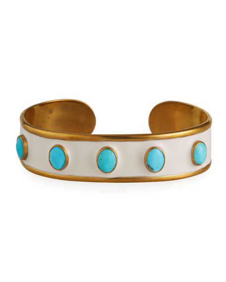 Image 1 of 4: Dina Mackney Turquoise Mini Cuff Bracelet