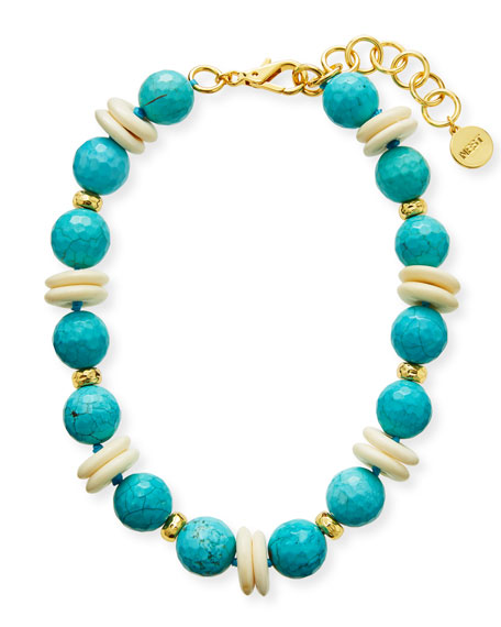 NEST Jewelry Turquoise and Bone Bead Statement Necklace