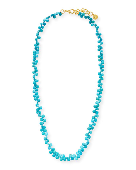 NEST Jewelry Faceted Turquoise Cluster Long Strand Necklace