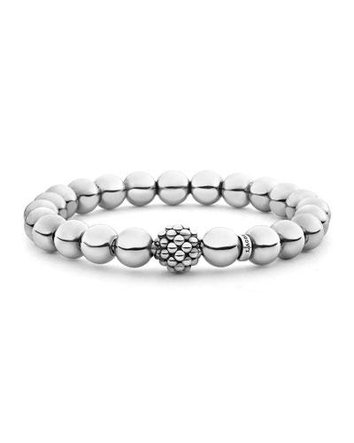 Signature Caviar Bead Stretch Bracelet