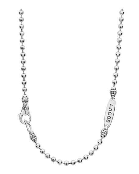 Image 3 of 4: Lagos Signature Caviar Magnifying Glass Necklace, Two-Tone