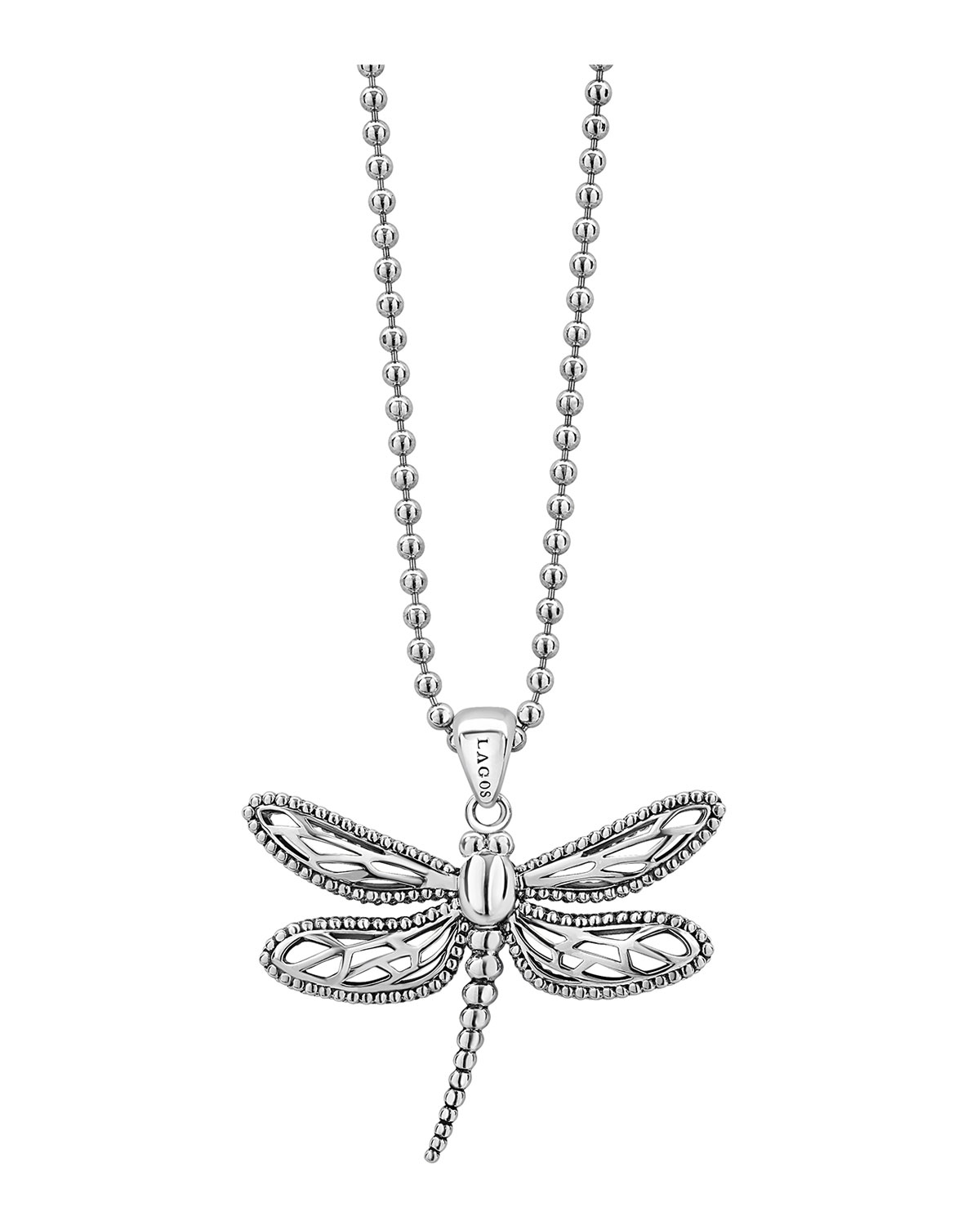 Lagos Rare Wonders Dragonfly Pendant Necklace