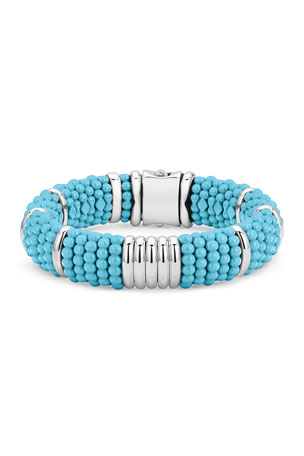 Lagos Blue Caviar Station Bracelet, 15mm