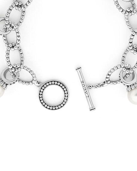 LAGOS Luna 9mm Pearl Link Bracelet