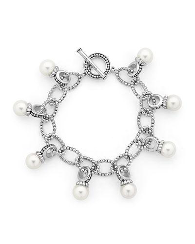 Luna 9mm Pearl Link Bracelet
