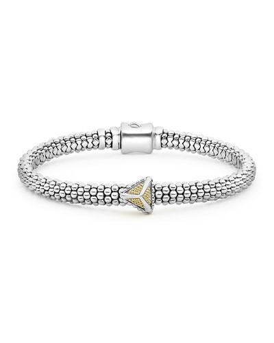 KSL 2-Tone 1-Pyramid Bracelet
