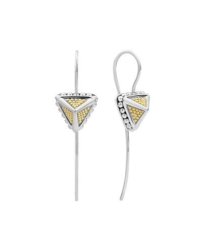 KSL 2-Tone Pyramid Drop Earrings  1.5L