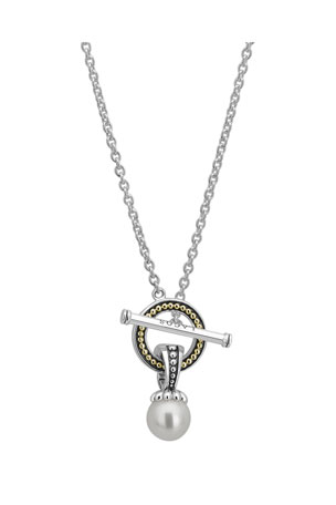 Lagos Luna Pearl Toggle Necklace