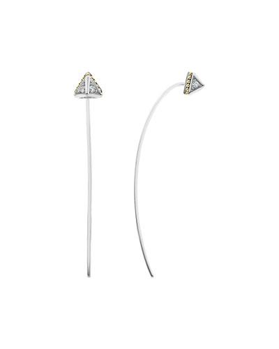 KSL 2-Tone Pyramid Drop Earrings  2L