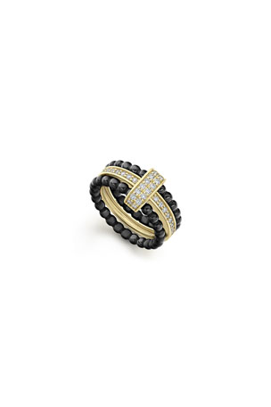 Lagos Color Switch 18k Gold and Diamond Ceramic Ring