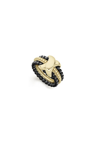 Lagos Color Switch 18k Gold X-Center Ceramic Ring