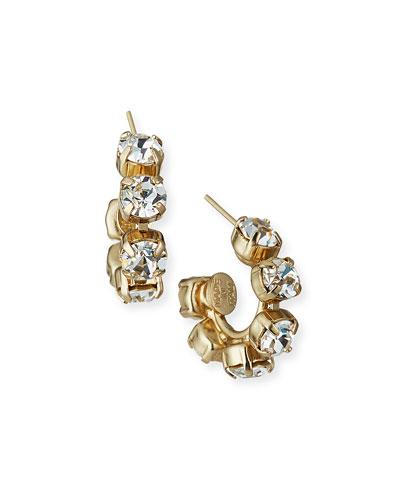 Giselle Crystal Hoop Earrings