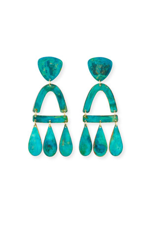 We Dream in Colour Castara Earrings, Verdi