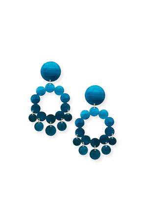 We Dream in Colour Celia Earrings, Deep Sea Teal