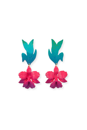 We Dream in Colour Laelia Earrings, Pink/Blue