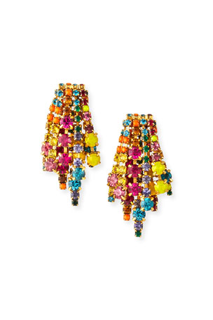 Elizabeth Cole Bette Crystal Earrings, Multi