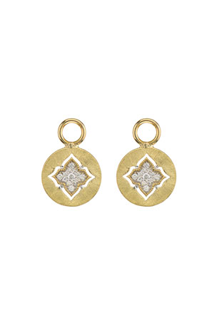 Jude Frances Moroccan 18K Diamond Disc Earring Charms
