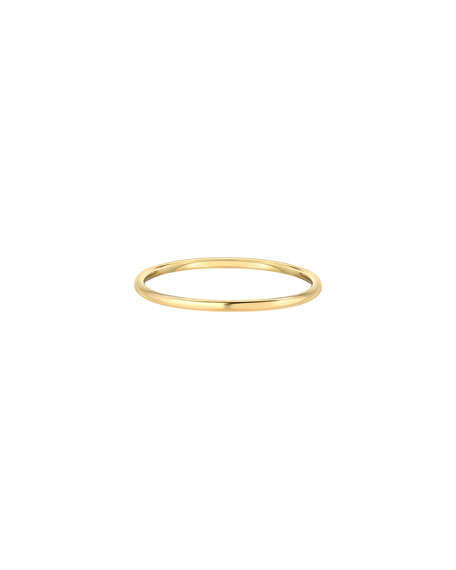 Image 1 of 2: Zoe Lev Jewelry 14k Gold Thin Band Ring, Size 7