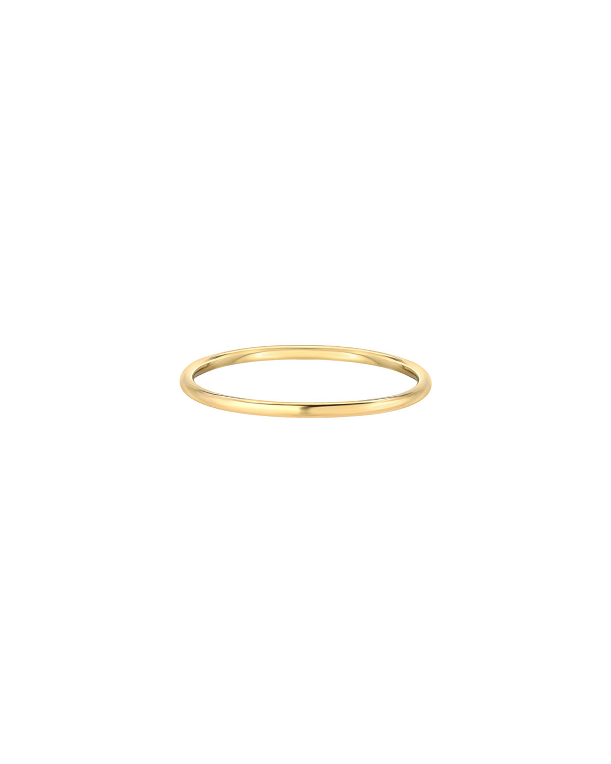 Zoe Lev Jewelry 14k Gold Thin Band Ring, Size 7