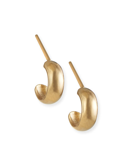 Image 1 of 2: Tai Fine 14k Gold Thick-Trim Hoop Earrings