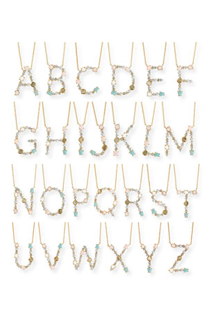 Tai Opal Monogram Necklace