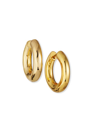 NEST Jewelry Mini High Polish Gold Huggie Earrings