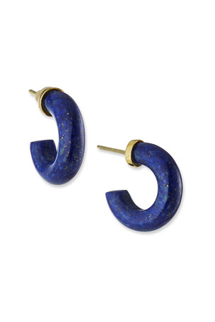 NEST Jewelry Lapis Mini Hoop Earrings