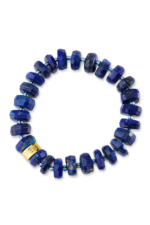 NEST Jewelry Lapis Stretch Bracelet