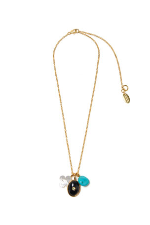 Lizzie Fortunato Black Oasis Charm Necklace