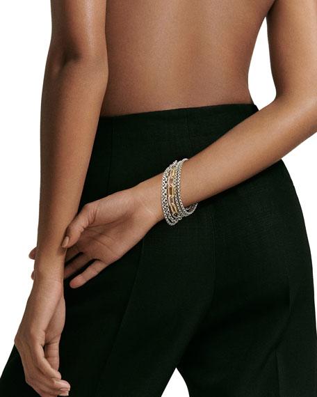 David Yurman Multi-Row Chain Bracelet Gold, Size L