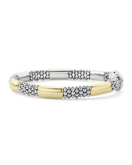 "LAGOS High Bar 6-Station Bracelet w/ 18k Gold, 6-7""L"