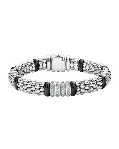 LAGOS Black Caviar 4-Diamond Station Bracelet