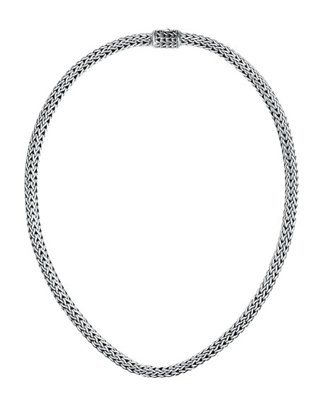 """Extra-Small Woven Chain Necklace, 18""""L"""