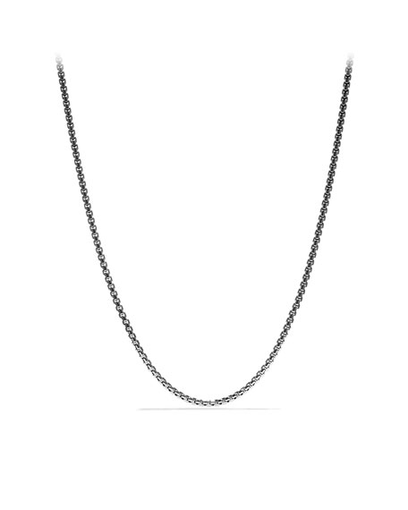 "Medium Box Chain with Gold, 18""L"