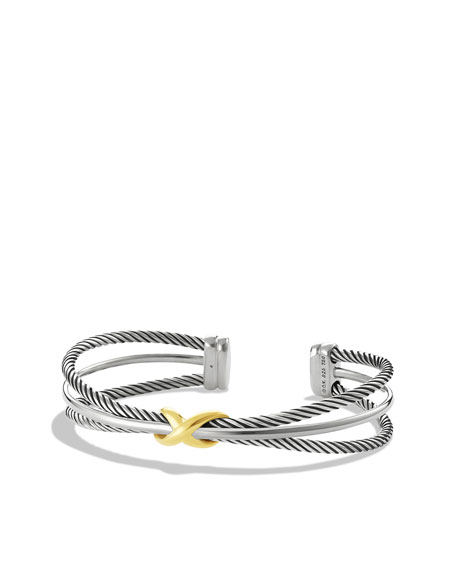 David Yurman X Crossover Cuff with Gold