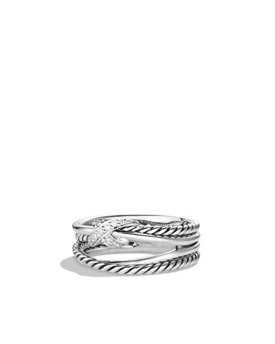 David Yurman X Crossover Ring with Diamonds