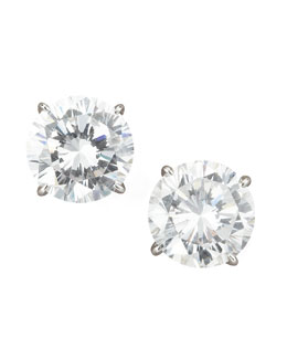 Fantasia by DeSerio Round Cubic Zirconia Stud Earrings