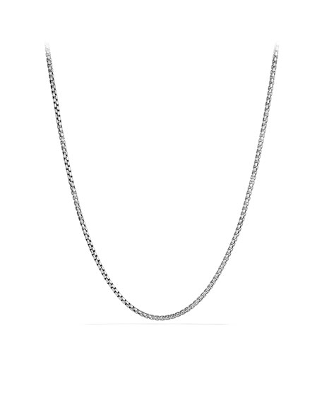 "Medium Box Chain with Gold, 32""L"