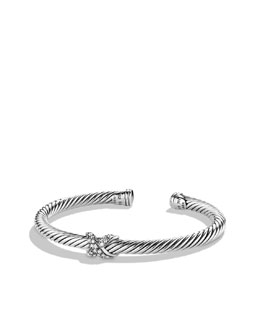 David Yurman X Bracelet with Diamonds and Gold