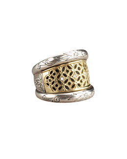 Konstantino Lattice Diamond Ring