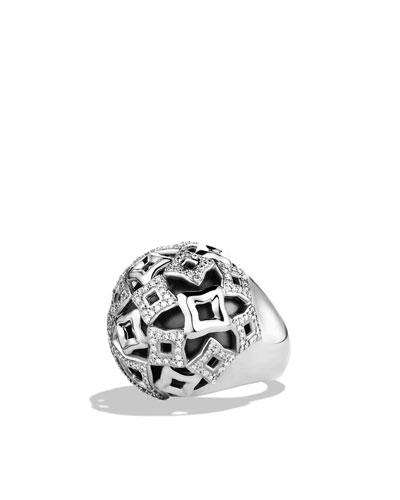 David Yurman Quatrefoil® Dome Ring with Diamonds